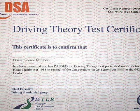 theory driving test Oxford
